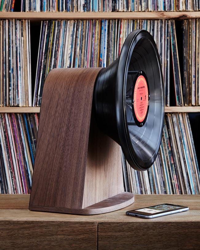 Bluetooth Lautsprecher aus Vinyl